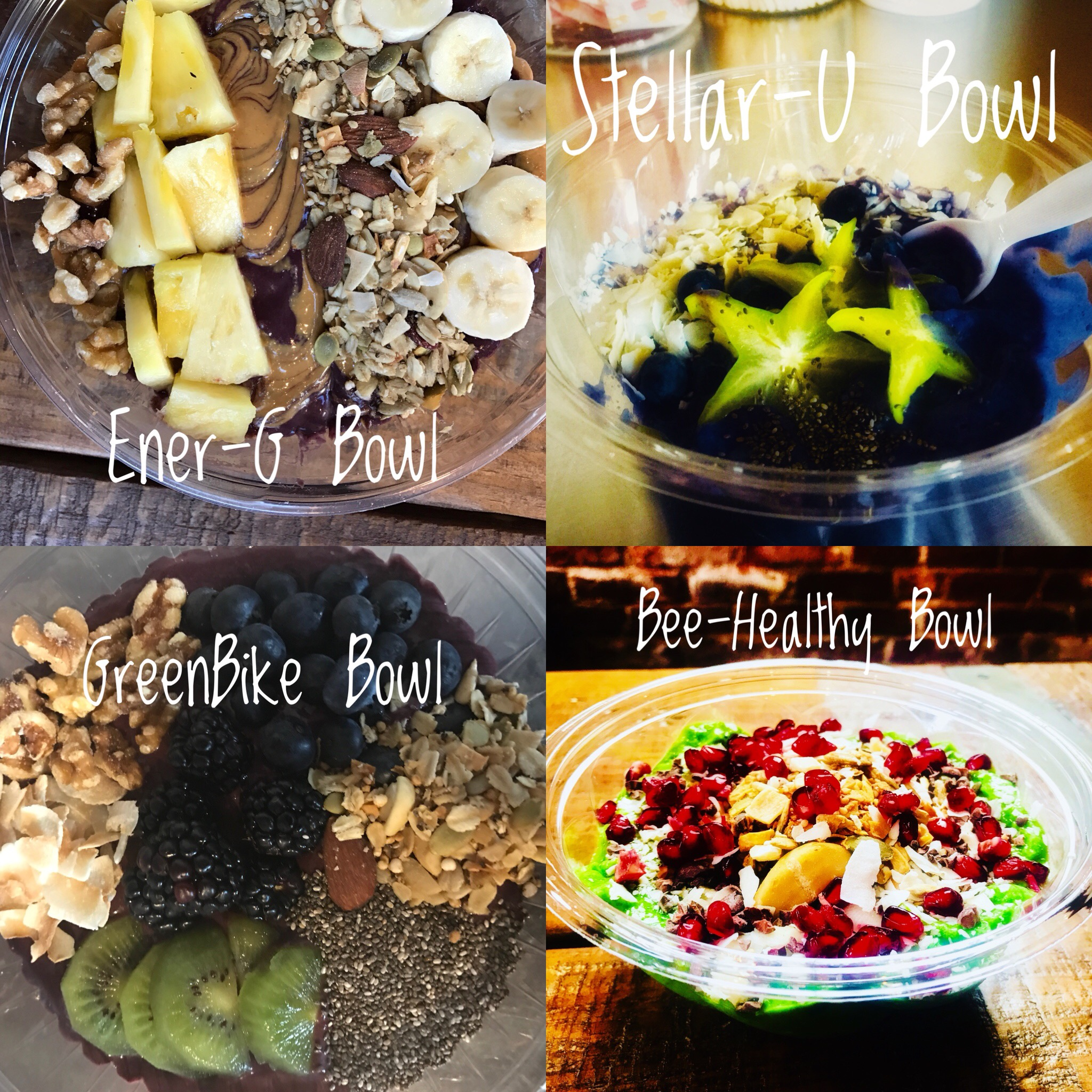 Smoothie Bowls       $9.45